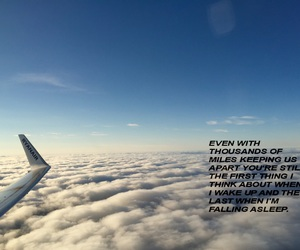 airplane, beside you, and cloud image