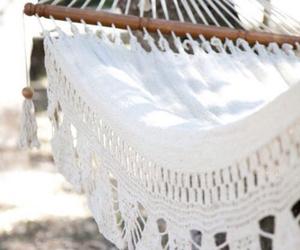 summer, white, and hammock image