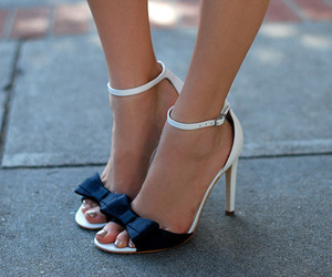 shoes, high heels, and bow image