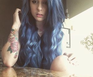 alt girl, blue, and dyed hair image