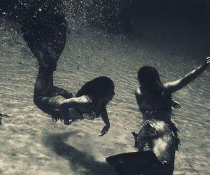 mermaid, water, and ocean image