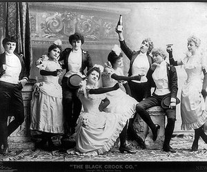 kneeling, theater, and belle epoque image