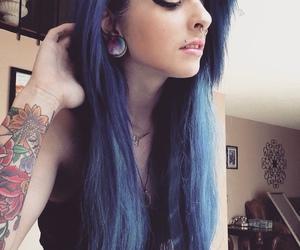 blue hair, girl, and plug image