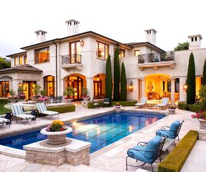 home, house, and pool image