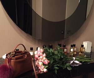 flowers, luxury, and bag image