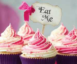 cupcakes, pink, and eat me image