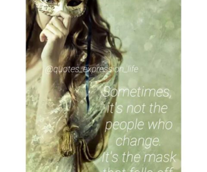 girl, masks, and quotes image