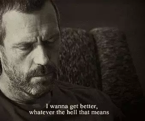 dr house, quote, and better image