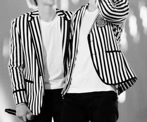 black and white, k-pop, and kawai image