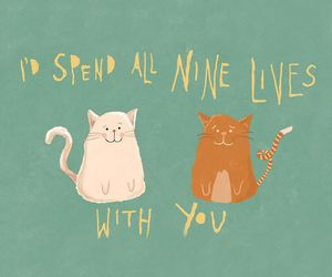 animal, cats, and Ilustration image