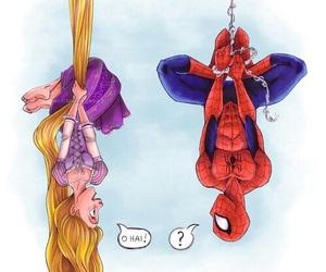 spiderman, rapunzel, and disney image