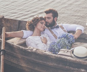 couples, wedding, and beautiful peoples image