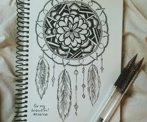 art, drawing, and blackpen image