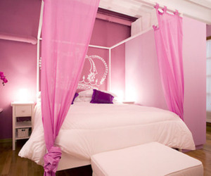 bed, kawaii, and pink image