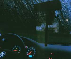 car, rain, and black image