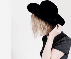 black, girl, and hat image
