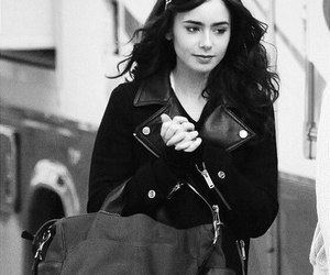 lily collins, black, and clary fray image