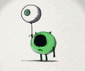 eye, green, and mike image