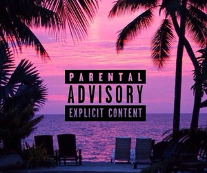 parental advisory, beach, and summer image