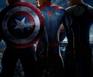 iron man, spiderman, and civil war image