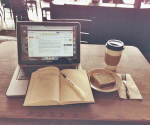 books, coffee, and hard image