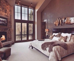 bedroom, luxe, and luxury house image