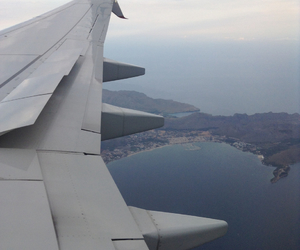 fly, plane, and sea image