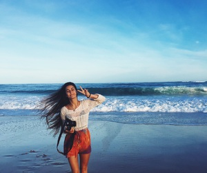 long hair, ocean, and sea image