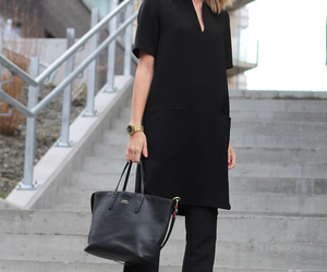 black, work, and outfit image