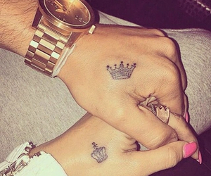 couple, king, and couple tattoo image