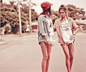 best friends, fashion, and hipster image