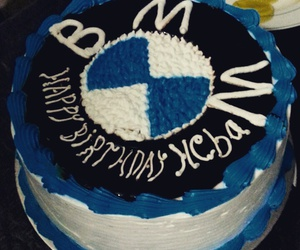 birthday, bmw, and cake image