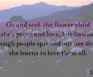 dark, flower child, and flowers image