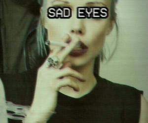 sad, grunge, and eyes image