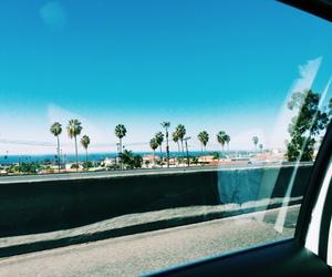 beach, california, and fun image