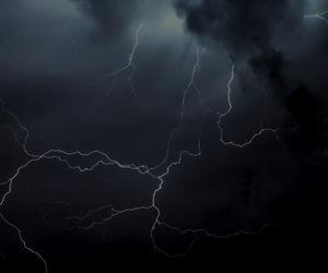 storm, dark, and lightning image