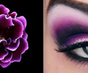 beautiful, eyeshadow, and flower image