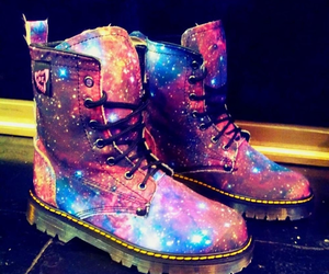 boot, galaxy, and cute image