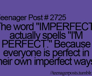 perfect, imperfect, and teenager post image