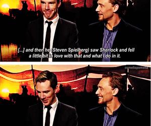 tom hiddleston, friends, and benedict cumberbatch image