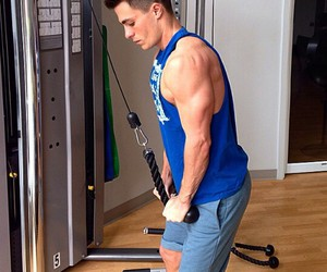 blue, fit, and gym image