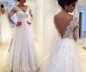 beautiful, wedding, and white dress image