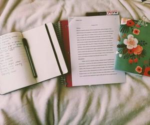 books, exam, and school image