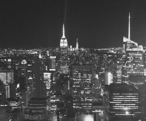 black and white, fun, and new york image