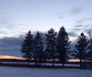 minnesota, nature, and sunset image