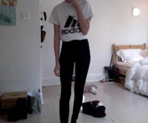 girl, pale, and adidas image