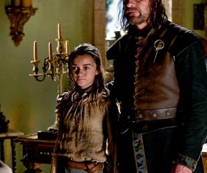 arya stark, game of thrones, and ned stark image