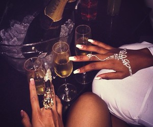 nails, luxury, and party image