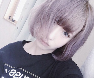 girl, purple, and cute image