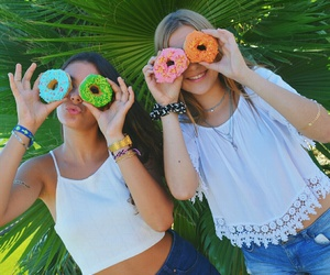 donuts, friends, and girls image